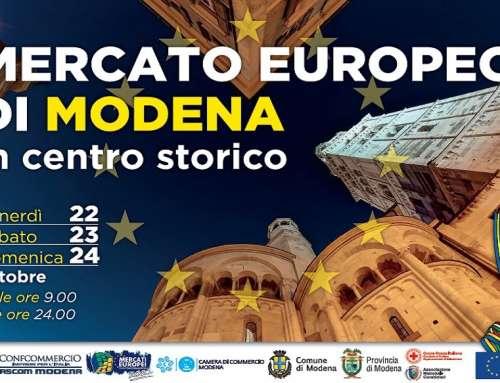 Il 22, 23, 24 ottobre torna in centro storico a Modena il Mercato Europeo